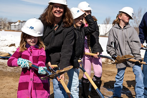 the Wright Farms Branch Library groundbreaking